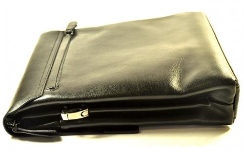 Мужская кожаная сумка вертикальная