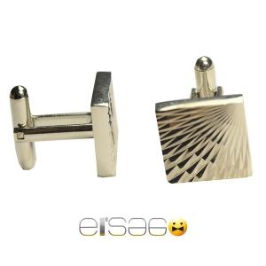 Квадратные мужские запонки Эльсаго с лазерной гравировкой