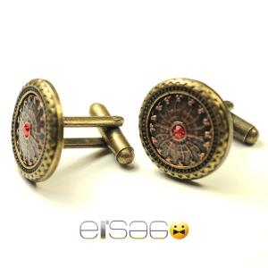 Мужские запонки Эльсаго стиль рыцарский щит