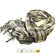 Стильный серо-фиолетовый шарф осень-зима 2013-2014 года