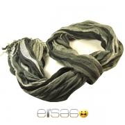 Темно-серый клетчатый шарф осень-зима 2013-2014 года