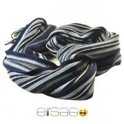 Синий мужской шарф со светлыми полосками