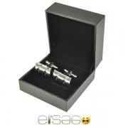 Серебряные запонки в подарочной упаковке