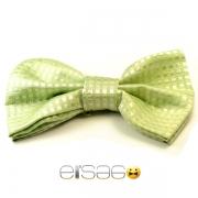 Салатовая глянцевая галстук-бабочка