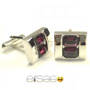Фиолетовые мужские мужские запонки Эльсаго