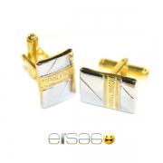 Золотые мужские запонки с печатью