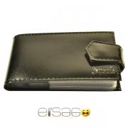 Черный лакированный кожаный кляссер