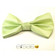 Светло-зеленая глянцевая галстук-бабочка