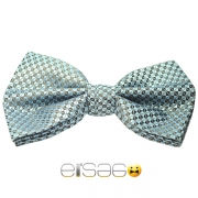 Бирюзовая клетчатая мужская бабочка-галстук Эльсаго
