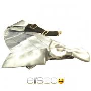 Серый свадебный кушак из шикарной атласной ткани