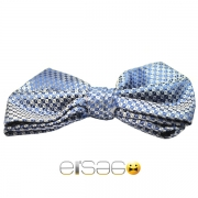 Синяя клетчатая мужская бабочка-галстук Эльсаго