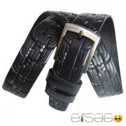 Классический прошитый кожаный ремень в ренессансном стиле