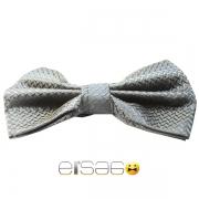 Серая клетчатая мужская бабочка-галстук Эльсаго