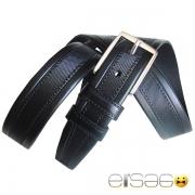 Классический кожаный ремень прошитый толстой нитью