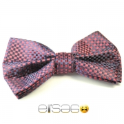 Красно-фиолетовая глянцевая галстук-бабочка