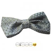 Серо-голубая бабочка-галстук Эльсаго в клетку