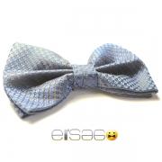 Серо-синяя бабочка-галстук Эльсаго в клетку