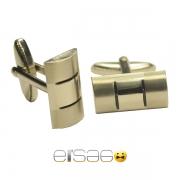 Серебряные мужские запонки в форме щитка