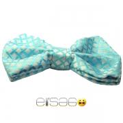 Бирюзовая бабочка-галстук Эльсаго стиль сетка