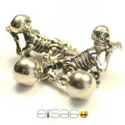 Мужские запонки в виде скелетов