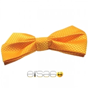 Ярко-оранжевая бабочка-галстук рисунок ромбик