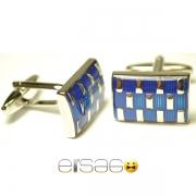 Прямоугольные мужские запонки Эльсаго стиль шахматы