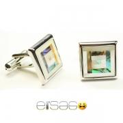 Перламутровые квадратные запонки Эльсаго