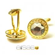 Превосходные золотые мужские запонки Эльсаго в подарок