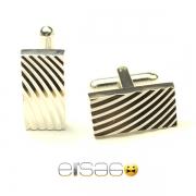 Прямоугольные мужские запонки Эльсаго с лазерной гравировкой