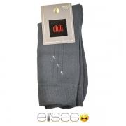 Серые фирменные мужские носки Chili в полоску
