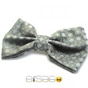 Экстравагантная темно-зеленая бабочка-галстук