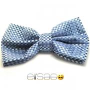 Синяя клетчатая бабочка-галстук для ведущего праздников