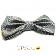 Черно-серая бабочка-галстук ромбиком