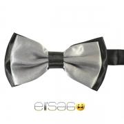 Серая галстук-бабочка с черным обрамлением