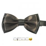 Коричневая галстук-бабочка с черным обрамлением