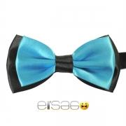 Бирюзовая галстук-бабочка с черным обрамлением