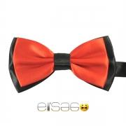 Красная галстук-бабочка с черным обрамлением