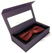 галстук-бабочка бордовая