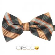 Оранжево-серая шотландская галстук бабочка