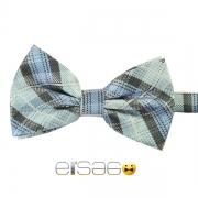 Голубо-серая шотландская галстук-бабочка