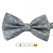 Стильная синяя шотландская галстук-бабочка