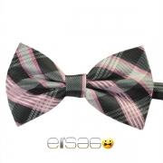 Черно-розовая шотландская галстук-бабочка
