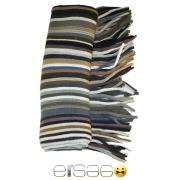 Коричневый полосатый теплый шарф. Мода осень-зима 2013-2014