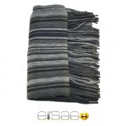 Серый с темными полосами теплый шарф. Мода осень-зима 2013-2014