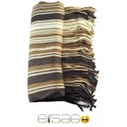 Коричневый мужской теплый шарф многоцветный. Мода осень-зима 2013-2014