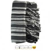 Серо-черный мужской акриловый шарф. Мода осень-зима 2013-2014