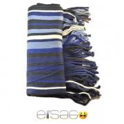 Синий в полоску мужской акриловый шарф. Мода осень-зима 2013-2014
