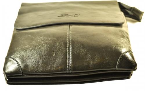 Мужская кожаная сумка с ремешком и защитными уголками