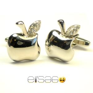 Мужские запонки Apple (форма яблока)