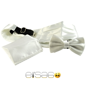 Белый свадебный кушак из шикарной атласной ткани